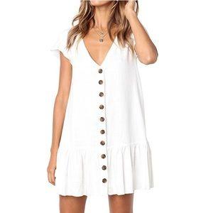 Dresses & Skirts - ✨NWT✨V-Neck Button Down Dress